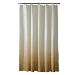 Bath Bliss Polyester Lace Printed Ombre Shower Curtain in Gold