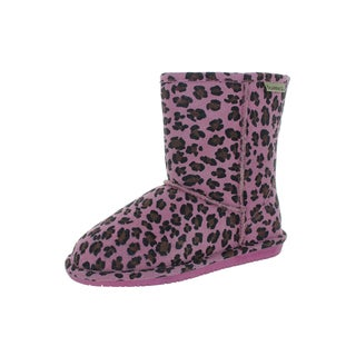 Bearpaw Kids' Emma Pink Leopard/Chocolate 6.5-inch Boot