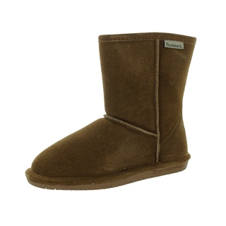 Bearpaw Kids' Emma 6.5-inch Brown Suede Hickory Boot