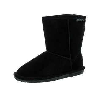 Bearpaw Kids' Emma Black Suede 6.5-inches Cold Weather Boots