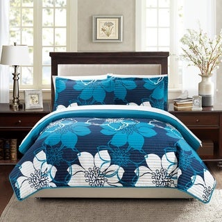 Chic Home Chase Blue 3-Piece Quilt Set