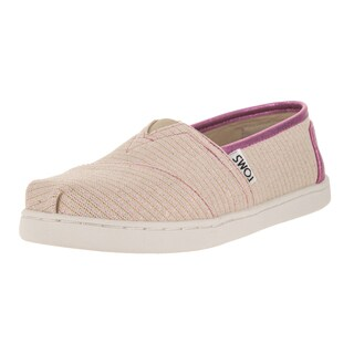 Toms Kids' Pink/Glimmer Classic Casual Shoe