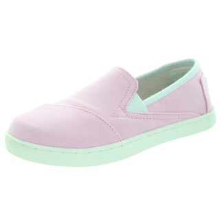 Toms Kid's Avalon Sneaker Pink Canvas Casual Shoes