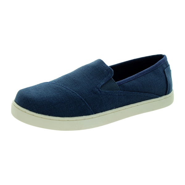 abb7035e0575 Shop Toms Kids  Navy Avalon Casual Slip-on Sneakers - Free Shipping ...