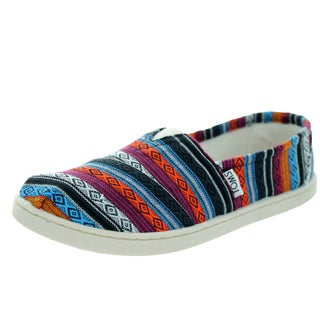 Toms Kids' Classic Blue Woven Textile Casual Shoes