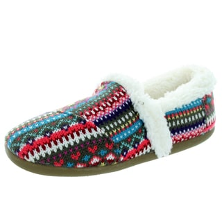 Toms Kids Multicolored Fabric Knit Striped Slippers/Loafers/Slip-on Shoes