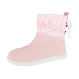 Toms Kids Pink Suede Nepal Boot