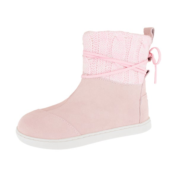 2c90a66d7f4 Shop Toms Kids Pink Suede Nepal Boot - Free Shipping Today ...