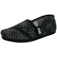 Toms Kid's Classic Black Medium-width Crochet Casual Shoes