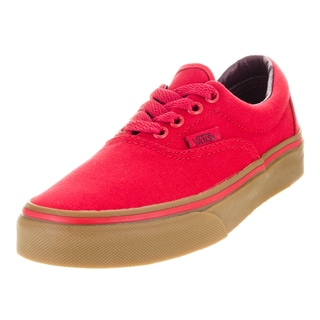 Vans Kid's Era (Canvas) Racing Red/Gum Skate Shoe
