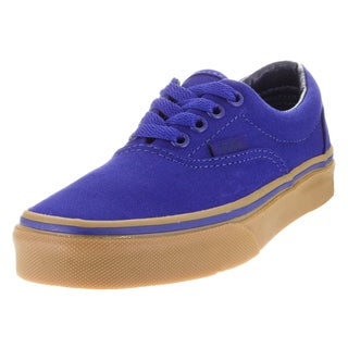Vans Kid's Era (Canvas) Blue Print/Gum Skate Shoe