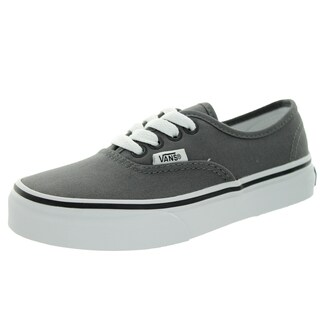 Vans Kid's Authentic Pewter/Black Skate Shoe