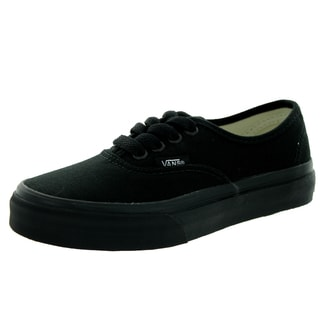 Vans Kid's Authentic Black/Black Skate Shoe