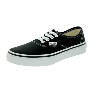 Vans Kid's Authentic Black/True White Skate Shoe