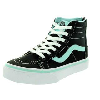 Vans Kid's Sk8-Hi Zip (Pop) Black/Blue Tint Skate Shoe