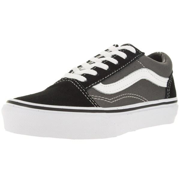 923fbbd4ac Shop Vans Kid s Old Skool Black Pewter Skate Shoe - Free Shipping On ...