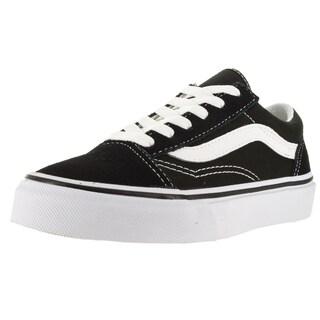 Vans Kid's Old Skool Black/True White Skate Shoe