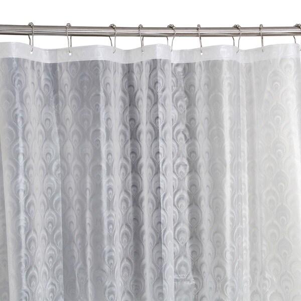 Bath Bliss 3D Peacock Design Shower Curtain in Clear