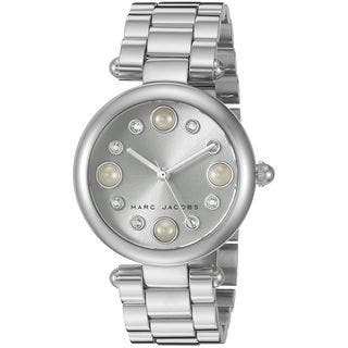 Marc Jacobs Women's MJ3475 'Dotty' Crystal Stainless Steel Watch|https://ak1.ostkcdn.com/images/products/12324668/P19157201.jpg?impolicy=medium
