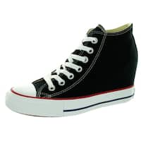 Converse Women's Chuck Taylor Lux Mid Black Basketball Shoe
