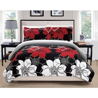 Chic Home Chase Black 7-Piece Bed in a Bag Quilt Set