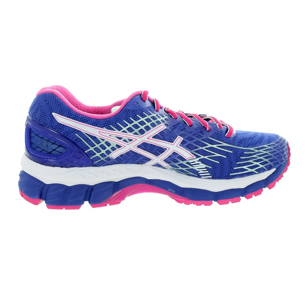 Shop Asics Women's Gel Nimbus 17 Deep BlueWhiteHot Pink