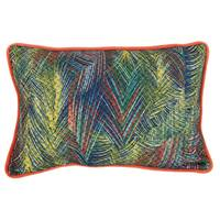 Multicolored Polyester 20-inches Wide x 14-inches HighThrow Pillow