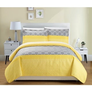 Chic Home Maricel Yellow 7-Piece Reversible Bed in a Bag Quilt Set