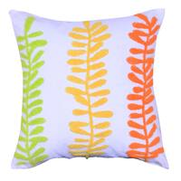 Cotton 18-inch Embroidered Throw Pillow