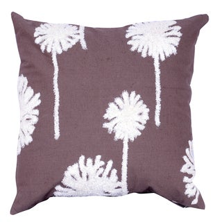 18-inches x 18-inches Embroidered Throw Pillow