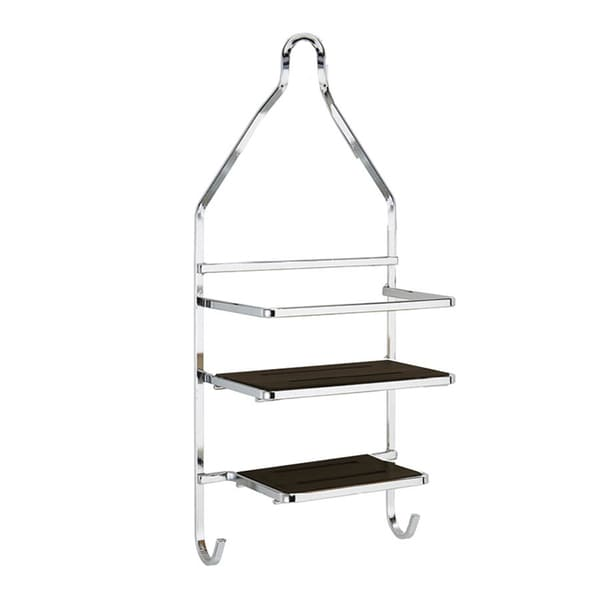 Shop Laura Ashley Black Bamboo Flat Wire Shower Caddy - Free ...