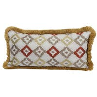 Jacquard Woven 12-inch x 25-inch Cotton Throw Pillow