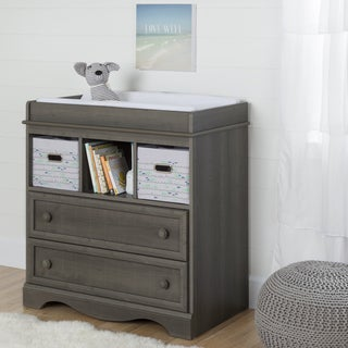South Shore Savannah 2 Baskets Grey Maple Changing Table