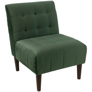 angelo:HOME Button Tufted Accent Chair in Mystere Jade