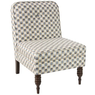 angelo:HOME Accent Chair With Button in Iznik Tile Desert