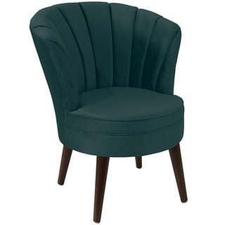 angelo:HOME Channel Seam Tub Chair in Mystere Peacock