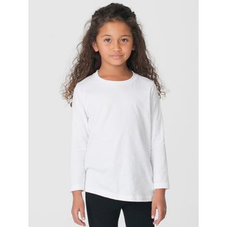 American Apparel Girls' White Fine-jersey Long-sleeve T-shirt