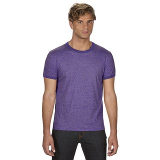 Trim Fit Men's Heather Purple/Triblend Purple Jersey T-Shirt