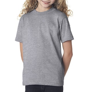 Girls' Dark Ash Cotton Short-Sleeve T-Shirt