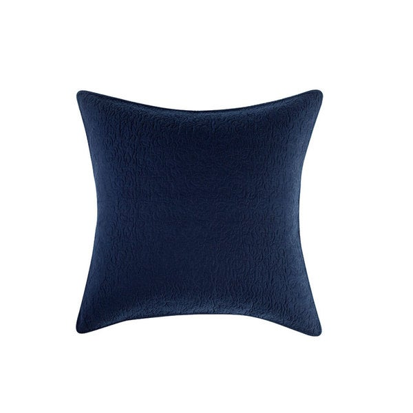 Tracy Porter Sisley Blue Cotton Quilted European Sham
