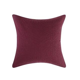 Tracy Porter Gemma Red Quilted Cotton European Sham
