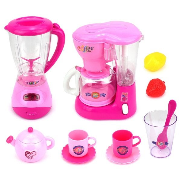 Velocity Toys Mini Dream Kitchen Pink Play Toy Kitchen