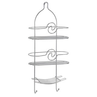 Bath Bliss Curved Design Shower Caddy In Chrome