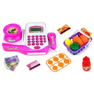 Velocity Toys Flower Market Educational Pretend Play Battery Operated Toy Cash Register