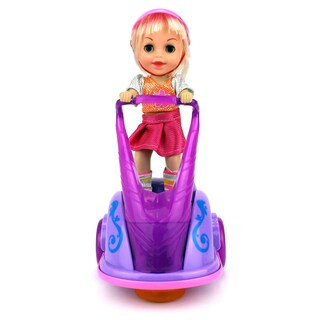 Velocity Toys Super Sport Girl Scooter Battery Operated Bump and Go Toy Vehicle (Colors May Vary)