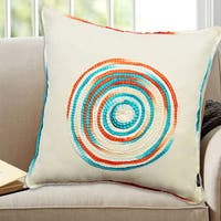 Spiral Ombre 100-percent Cotton 18-inch x 18-inch Decorative Throw Pillow (Set of 2)