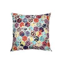 Multicolored Honeycomb 100-percent Cotton 18-inch x 18-inch Decorative Throw Pillow (Set of 2)