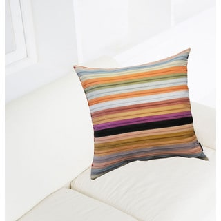 Striped Zipper Polyester 18-inch x 18-inch Throw Pillows (Set Of 2 )