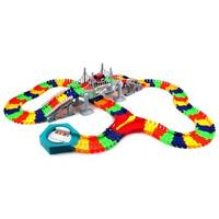 Velocity Toys Create-A-Road 'Flex Bridge' 192-piece Toy Car and Flexible Track Playset - Red