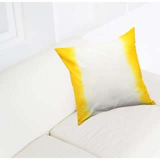 Yellow Ombre Cotton 18-inch Throw Pillows (Set of 2)